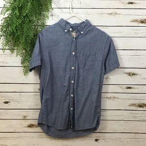 Urban Pipeline blue button down shirt small